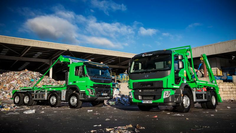 Volvo waste trucks